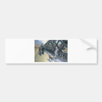 Le Pont de L'Europe by Gustave Caillebotte Bumper Sticker