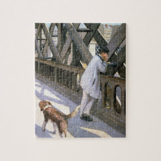 Le Pont de L'Europe: detail of a resting man and a Jigsaw Puzzle