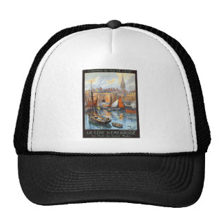 Le Port de Saint Malo France Vintage Travel Trucker Hat
