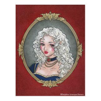 Le Portrait De La Vampiresse Gothic Postcard