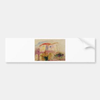 Le Poste at Cagnes (study) Pierre-Auguste Renoir Bumper Sticker