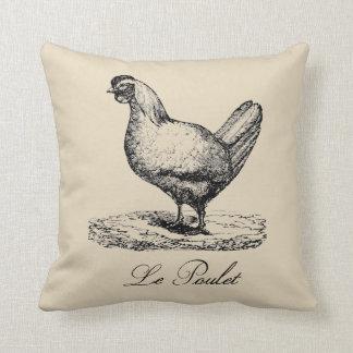 Le Poulet French Chicken Farmhouse Throw Pillow