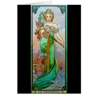 Le Printemps c1895 Card