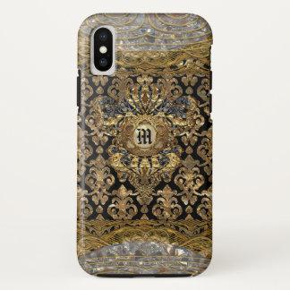 Le Shantesa Pretty Baroque Monogram iPhone X Case