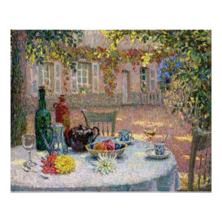 Le Sidaner: Table under Leaves in the Sun Poster