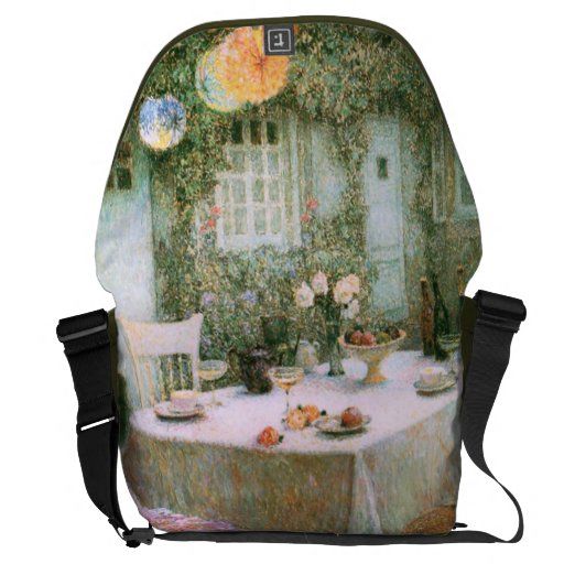 Le Sidaner: Table with Lanterns Messenger Bags