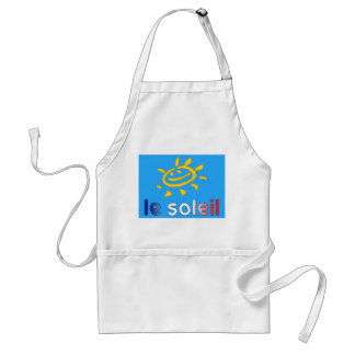 Le Soleil The Sun in French Summer Vacation Aprons