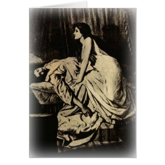 Le Vampire by Burne-Jones 1897 Card
