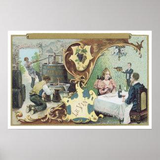 Le Vin Poster