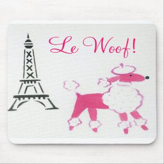Le Woof! Pink Poodle in Paris Mouse Pads