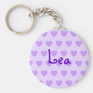 Lea in Purple Basic Round Button Key Ring