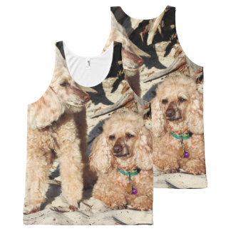 Leach - Poodles - Romeo Remy All-Over Print Singlet