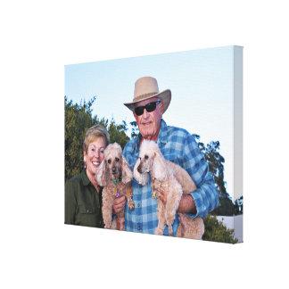 Leach - Poodles - Romeo Remy Canvas Print