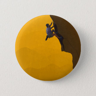 Lead Climb Rock Climber Illustration 6 Cm Round Badge