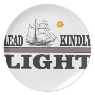lead light of glory plate