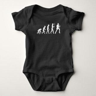 Lead Singer Guitar Evolution Baby Bodysuit
