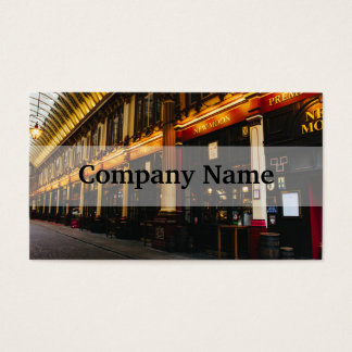 Leadenhall Market, London, United Kingdom Business Card