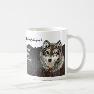 Leader of the Pack 30th Birthday Humor Wolf 30th Basic White Mug