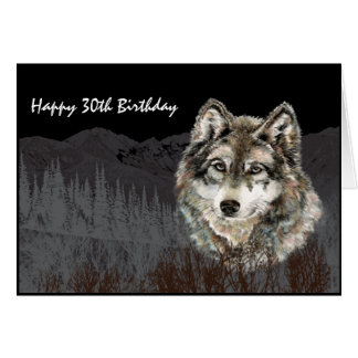 Leader of the Pack Birthday Humor Wolf Animal Card