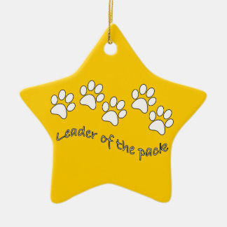 Leader of the Pack Dog Lover's Christmas Tree Ornament