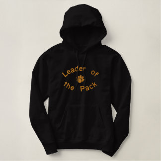 Leader of the Pack Dog Paw Embroidered Shirt