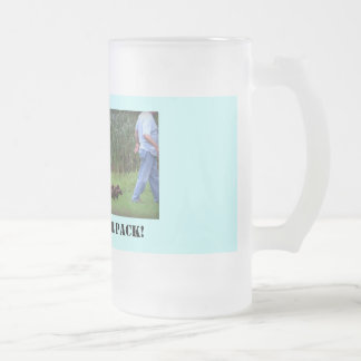 Leader of the Pack Frosted Glass Beer Mug
