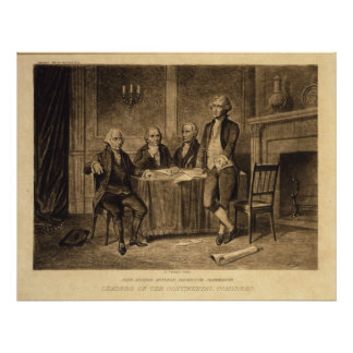 Leaders of the Continental Congress by Tholey Poster