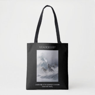 leadership achievement inspirational quote tote bag
