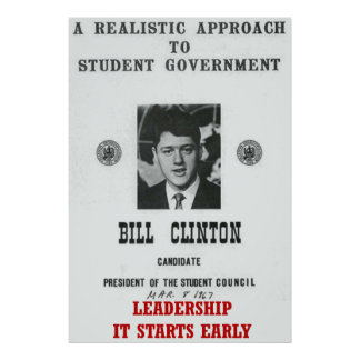 Leadership Bill Clinton at Georgetown University P Poster