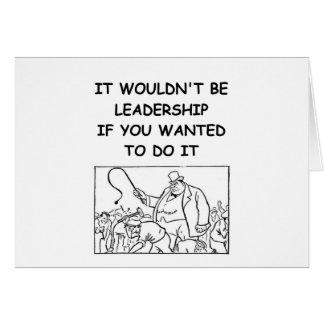 leadership greeting card