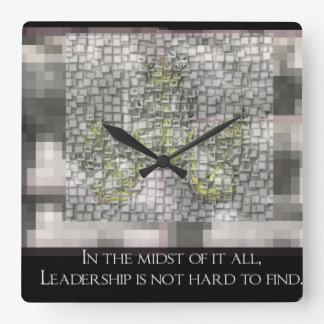 Leadership is not hard to Find Clock