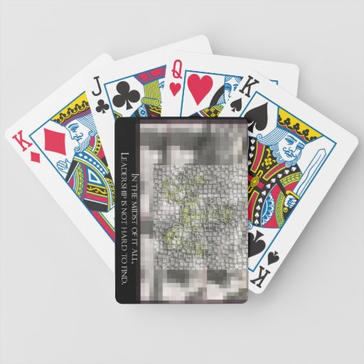 Leadership is not hard to Find Bicycle Playing Cards