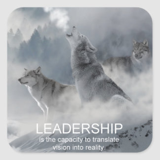 leadership motivational inspirational quote square sticker
