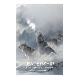 leadership motivational inspirational quote stationery