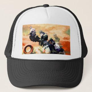 """""""Leading the Pack"""" Motocross Dirt-Bike Racers Trucker Hat"""