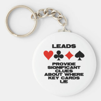 Leads Provide Significant Clues About Key Cards Basic Round Button Key Ring