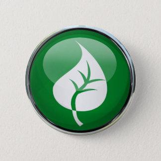 Leaf 6 Cm Round Badge