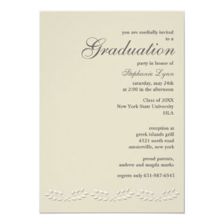 Leaf Accents Graduation Invitation