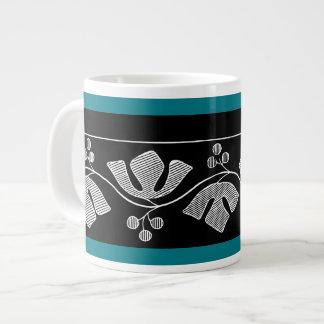Leaf and berry knit border design, 1877 jumbo mug