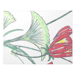"""Leaf and Flower Print Note Pad 11""""x8.5"""" 40 Page"""