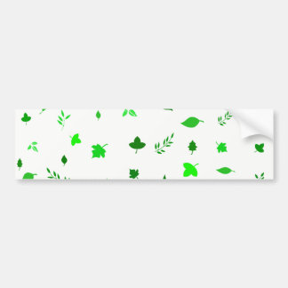 Leaf and Green Bumper Sticker