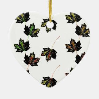 Leaf art ceramic ornament