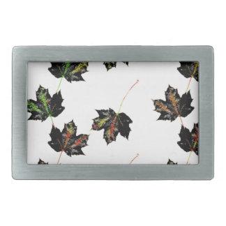 Leaf art rectangular belt buckle