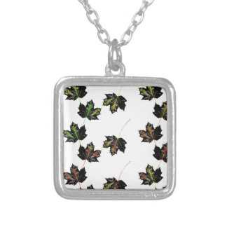Leaf art silver plated necklace