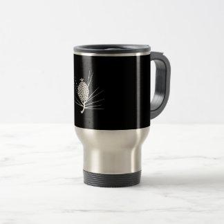 Leaf attaching pinecone travel mug