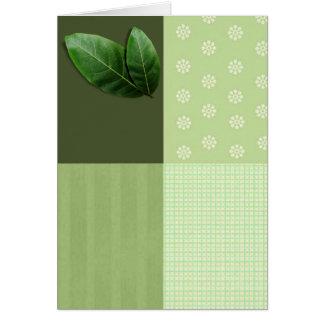 leaf blank card