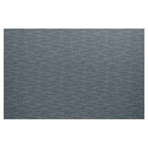leaf block indigo pewter fabric