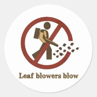 leaf blowers blow round sticker