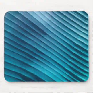 Leaf Blue Diagonal Mouse Pad