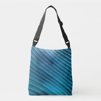 Leaf Blue Diagonal Tote Bag